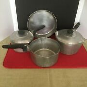 Vintage Wagner Ware Aluminum Cookware 6 Pc