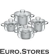 Silit Stainless Steel 4-piece Pot Set Tuscany Pouring Rim Glass New