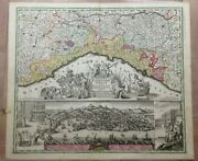 Italy Republic Of Genoa By Matheus Seutter 1730 Unusual Large Antique Map