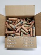 360 Rolls Preformed Coin Wrappers Assorted Paper Tubes Quarter Penny Nickel Dime