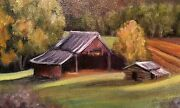 Sarah Weber Tennessee Artist Signed Original Oil Of Wear Valley Great Price