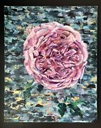 Original Oil Painting - Floral - Abstract Peony Flower On Canvas 2020