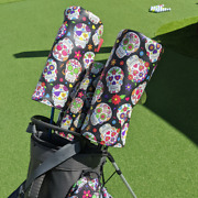 Sugar Skull Golf Driver Head Cover, Funky Cinco De Mayo Or Day Of The Dead Patte
