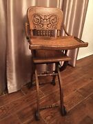 Vintage High Chair - Stroller 1890andrsquos