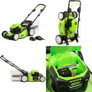Greenworks 21-inch 40v Brushless Self-propelled Mower 6ah Battery And Charger In