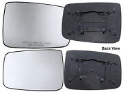 For 2010 - 2019 Ram R1500 R2500 R3500 Non-heated Mirror Glass Pair Right And Left