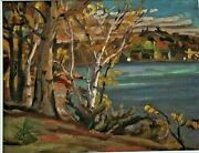 Clear Lake Front Of Dr Ra Starrand039s - Named Canadian Artist Ralph Wallace Burton