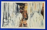 Vintage Postcard A Wall Of Ice In Natureand039s Wonder Ice Mine Coudersport Pa.