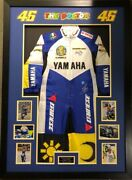 Signed Rossi Suit Valentino Rossi Autograph Race Jump Suit Framed Aftal C.o.a