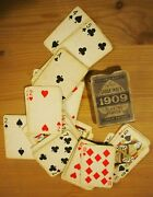 Chas And Goodall 1909 Old Antique Playing Cards Large Index Ivory Finish London