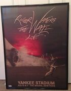 Roger Waters Signed The Wall Live Yankee Stadium Poster Jsa Loa Limited Edition