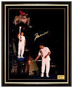 Muhammad Ali Authentic Hand Signed Photograph Boxing Olympic Torch Cassius Clay