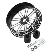 18and039and039 X 5.5and039and039 Rear Wheel Rim W/ Hubs For Harley Davidson Touring Flht Flhr 09-20