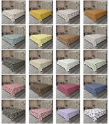 Ambesonne Ornate Floral Flat Sheet Top Sheet Decorative Bedding 6 Sizes