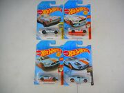 Hot Wheels 1/64 Scale 4 Gulf Cars- 2-mustang Gt , Ford Gt-40, And Nova