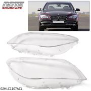 Pair Headlight Lens Cover For 2009-2015 Bmw F02 F01 7 740i 740li 750i 750li 760i