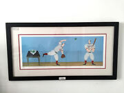 Paula Mcardle Batting Practice Serigraph 408/450 Collectible Framed