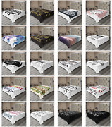Ambesonne Lettering Flat Sheet Top Sheet Decorative Bedding 6 Sizes