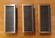 Lot Of 3 4x12 Contemporary Steel Floor Register Vent Covers Brushed Nickle