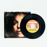 Barbara Streisand The Way He Makes Me Feel 45 Yentl 1983 Picture Sleeve Vg+