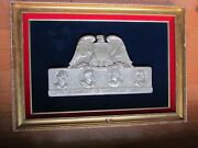 X-rare Ww1/wwi Us Army, Navy, Air Force Andusmc Framed Wall Plague, Sterling
