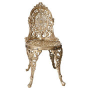 Indian Brass Handicraft Traditional Chair Antique Floral Dining Furniture