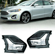 Fit For Ford Fusion 2019-2020 Front Foglight Led Bulb+grill Grille Panel Mesh