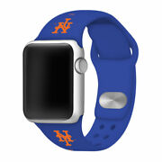 New York Mets Silicone Sport Band Compatible With The Apple Watch