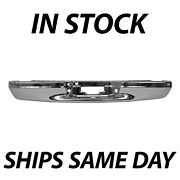 New Chrome Rear Step Bumper Face Bar For 1997-2003 Ford F-150 Flareside Crew Cab