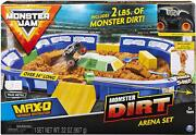 Monster Truck Jam Arena Toy Playset With Sand Dirt Ramp Best Exclusive Gift Kids