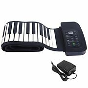 Smaly Electronic Piano Roll Up Piano 88 Keyboard Portable With Foot Pedal