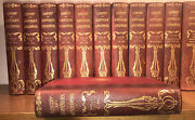Old Leather Leatherbound Books Antique Antiquarian Library Rustic Decor Rare Set