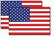 2x Reflective 3m Usa American Flag Decal Stickers Exterior Various Sizes Us Made