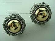 Pedro Boregaard 18k Gold And Oxidized Sterling Silver Sea Urchin Large Earrings 1and039
