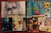 2x Lot- Sdcc Comic Con 2014 Zombie And Teen Titans Go Swag Tote Bag Backpack 2015