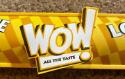 Frito Lay Wow Shelf Sign Vintage 20 Years Old. Rare. 2 Ft Long. Box Of 5.