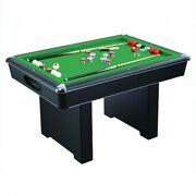 Bumper Pool Table 54-inch Game Room W Slate Play Field And Automatic Ball Return
