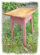 Rustic – Primitive Tiger Maple Tavern Table By Rob Sykes Furniture