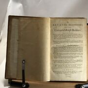 1774 A Key To Civil Architecture Or The Universal British Builder-full Leather