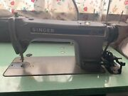 Singer 491 D200aa Andnbspindustrial Sewing Machine With Table