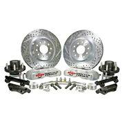 For Dodge Charger 73-74 Pro Driver Drilled And Slotted Front Brake Conversion Kit