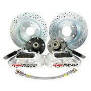 For Chevy Camaro 92 Pro Driver Drilled And Slotted Front Brake Conversion Kit