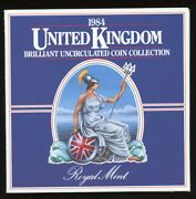 1984 United Kingdom Brilliant Uncirculated 8 Coin Collection Set