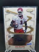 Paul Williams 2007 Sage Hit Playmakers Gold Autographs Pa1 70/100 Fresno State