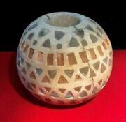 A Bactrian Marble Round Beaded Ancient Greek Antiquities Artifacts Collectables