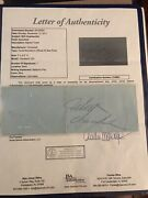 Wilt Chamberlain Sign All Star Party Ticket Authentic Autograph Jsa Letter