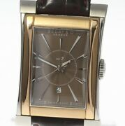 Bedatandco Rectangle 737 Guilloche Brown Dial Automatic Men's Watch_472598