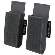 Condor Qd Mag Pouch 2 Pack Webbing Belt Compact Magazine Tactical Adapt Slate