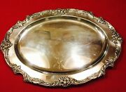 King Francis 1676 Reed And Barton 19 Silver Plate Medium Oval Meat Tray Platter