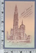 C438 Clarence Brooks Coach Varnish Advertising Trade Card Antwerp Cathedral